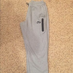 Nike air tech sweatpants large men's gray running